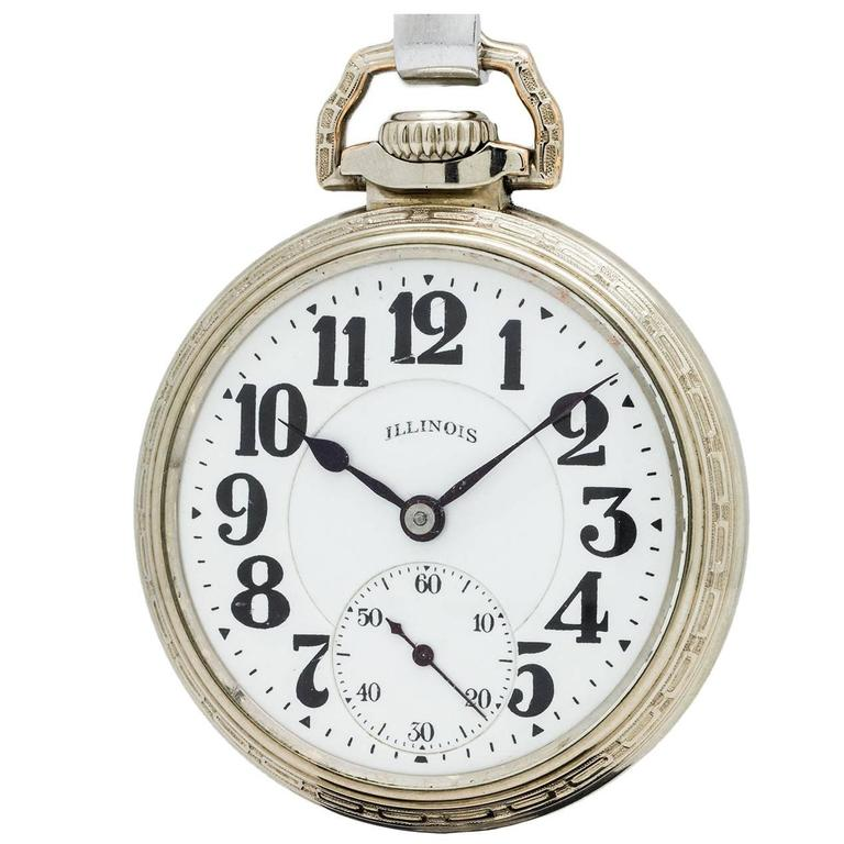 Illinois 16-S Bunn Special 60 Hour Pocket Watch, circa 1929 For Sale