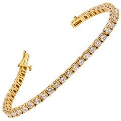 8.68 Carats Diamonds Gold Tennis Bracelet