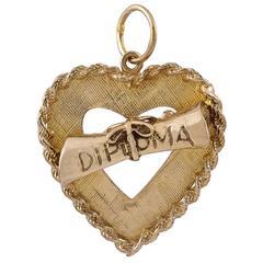 Gold Diploma Charm