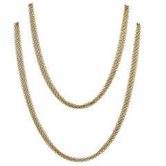 Tiffany & Co. Elsa Peretti Gold Mesh Necklace