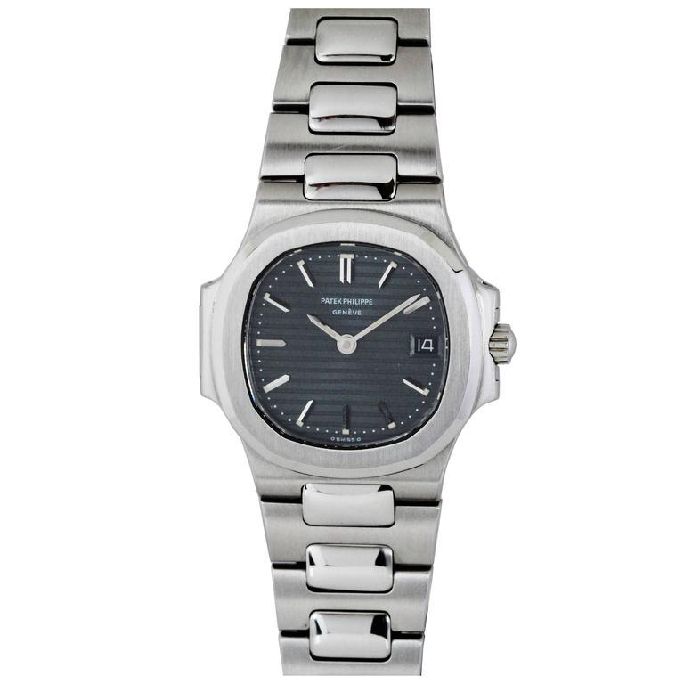Patek Philippe Ladies Stainless Steel Nautilus Quartz Wristwatch, circa 1990s