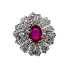 Luise Gold Diamond Ruby Dome Ring