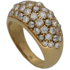 Cartier Bombe Ring with Diamond in Gold