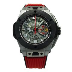 Hublot Titanium Big Bang Ferrari Chronograph Skeleton Limited Edition Wristwatch