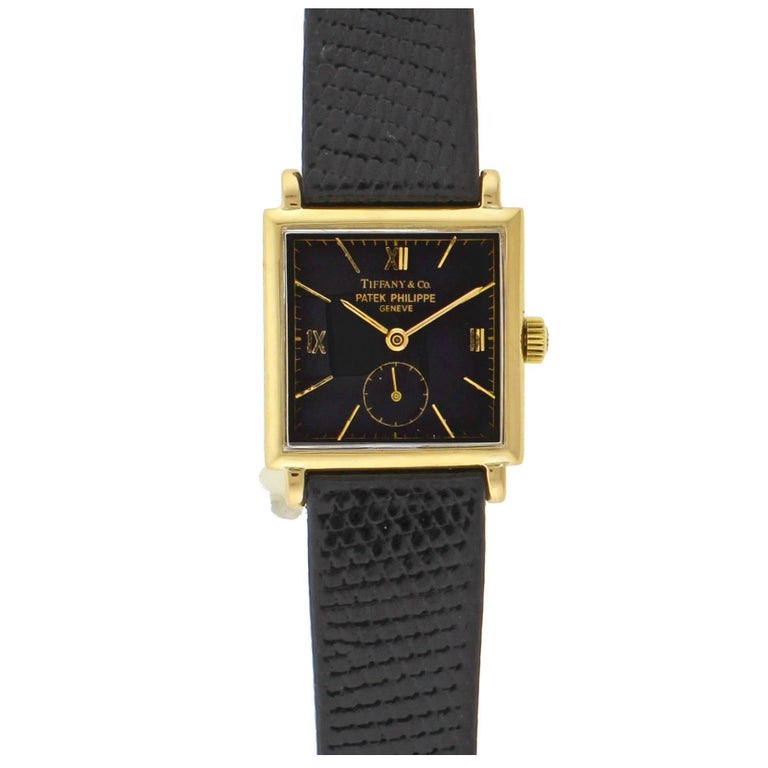 Patek Philippe Tiffany & Co. Yellow Gold Manual Wristwatch For Sale