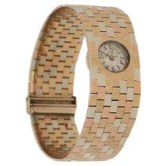Bueche Girod multi-coloured Florentine effect gold brickwork bracelet Wristwatch