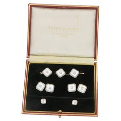 1930s Krementz Mother-of-Pearl Diamond Dress Set