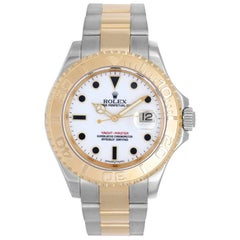 Rolex Yellow Gold Stainless Steel Yacht-Master Sport Wristwatch Ref 16623