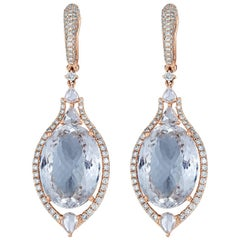 Aquamarine Diamond Drop Earring