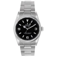 Rolex Stainless Steel Explorer Automatic Wristwatch Ref 114270
