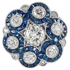 Handmade Sapphire Diamond Ring