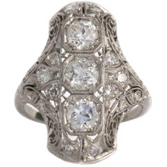 2.00 Carat, Total Weight Diamond Platinum Engagement Ring