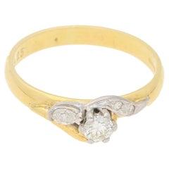 Single Stone Gold Diamond Engagement Ring