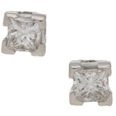 Diamond Stud Earrings 18 Karat Gold
