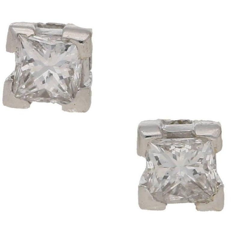 Diamond Stud Earrings 18 Karat Gold