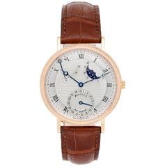 Breguet Rose Gold Classique Moonphase Power Reserve Wristwatch Ref 3137BR/11/98