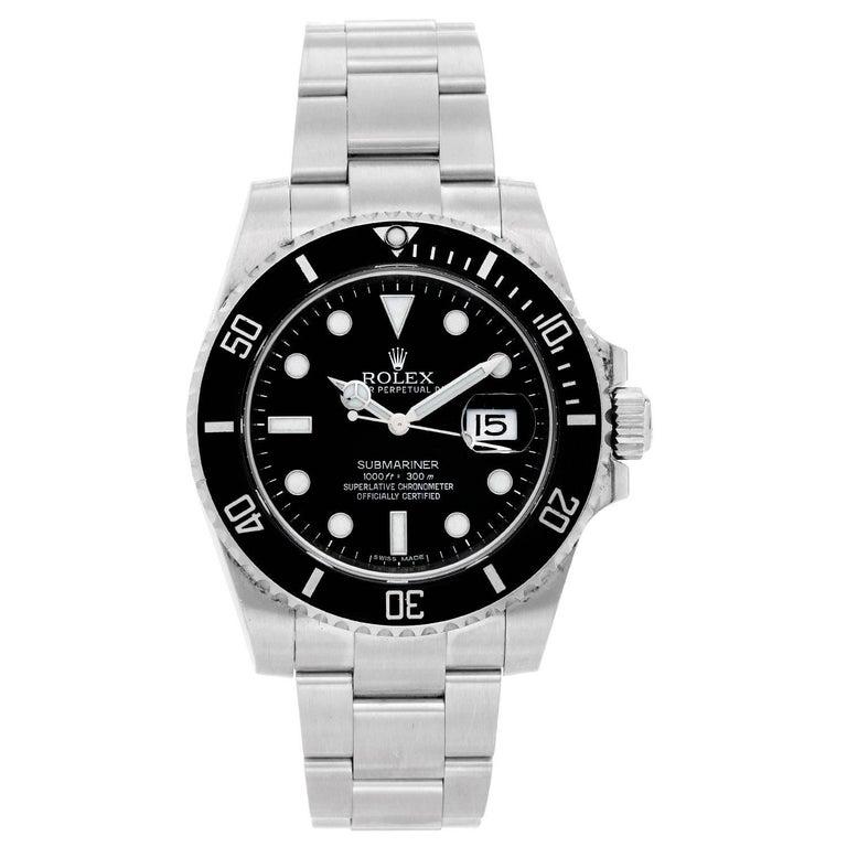 Rolex Stainless Steel Submariner Automatic Wristwatch Ref 116610