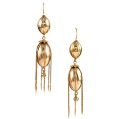 Victorian Golden Fringe Earrings