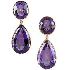Victorian Amethyst Double Drop Earrings