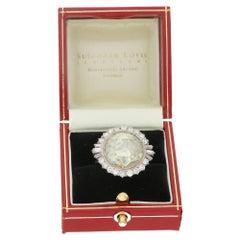 4.66 Carat Rose Cut Diamond Engagement Ring