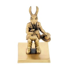 "Antique Bronze ""The Year Of The Rabbit"" by John Landrum Bryant"