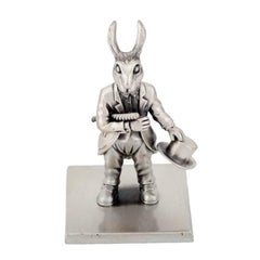 "Antique Silver Plated Bronze ""The Year Of The Rabbit"" by John Landrum Bryant"