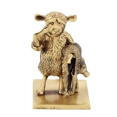 "Antique Bronze ""The Year Of The Sheep"" by John Landrum Bryant"
