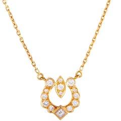 Cartier Diamond Yellow Gold Pendant Necklace