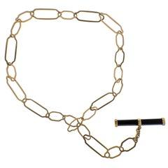 Pomellato Victoria Jet Rose Gold Link Toggle Necklace