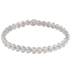 Diamond Line Heart Shaped Bracelet 1.97 Carat