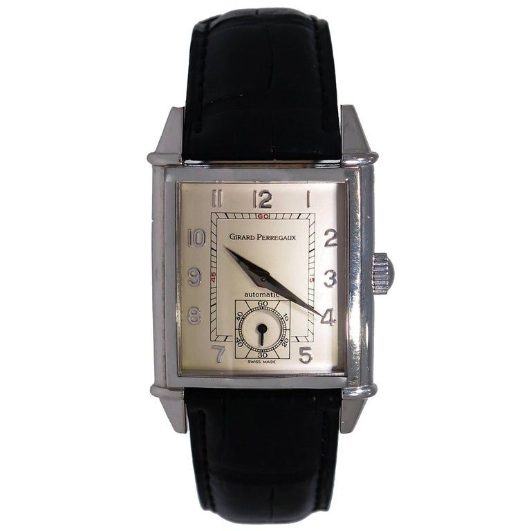 Girard-Perregaux Stainless Steel Vintage 1945 self-winding Wristwatch  For Sale