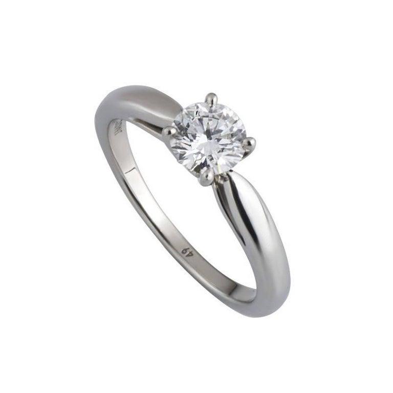 GIA Certified Van Cleef & Arpels Diamond Engagement Ring .50 Carat