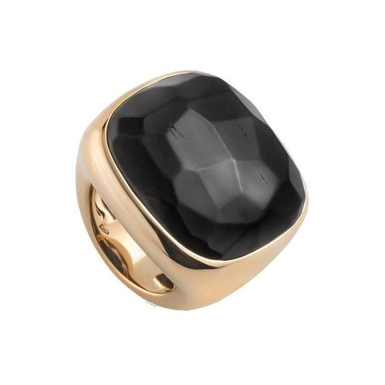 Pomellato Rose Gold Onyx Ring For Sale