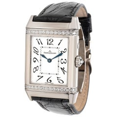 Jaeger-LeCoultre White Gold Reverso Duetto Mechanical Wristwatch