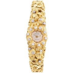 "Rolex Ladies yellow gold diamond ""Sea Urchin"" Bracelet manual Wristwatch"