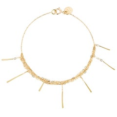 Sweet Pea 18ct Yellow Gold Sycamore Layered Chain Bracelet