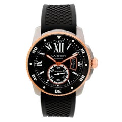 Cartier Rose Gold Calibre de Cartier Diver Black dial Automatic Wristwatch