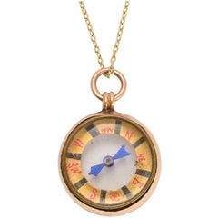 Antique Edwardian Gold Compass Pendant
