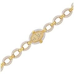 Rolex Ladies Yellow Gold Platinum Diamond mechanical Wristwatch