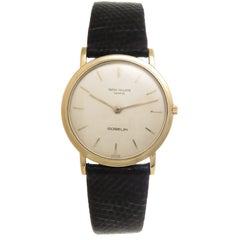 Patek Philippe Retailed by Gubelin Yellow Gold Manual Wind Wristwatch Ref 3520