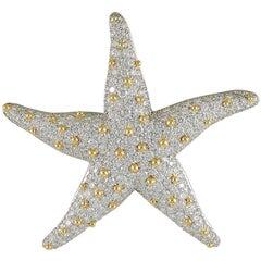 Oscar Heyman Diamond Starfish Brooch