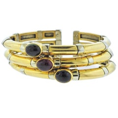 Bulgari Iolite Tourmaline Gold Bracelet