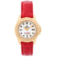 Rolex Ladies yellow gold Lady Yacht-Master Automatic Wristwatch Ref 69628