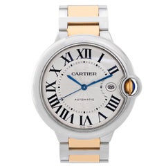 Cartier Yellow Gold Stainless Steel Ballon Bleu Large Automatic Wristwatch