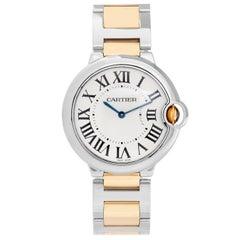 Cartier yellow Gold Stainless Steel Ballon Bleu Midsize Quartz Wristwatch