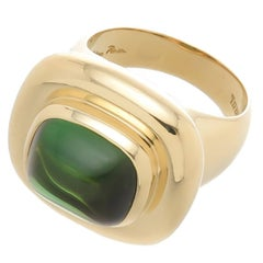 Tiffany & Co. Paloma Picasso Cabochon Tourmaline Gold Ring