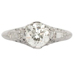 1.13 Carat Diamond Platinum Engagement Ring