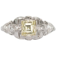 GIA Certified 1.08 Carat Diamond Platinum Engagement Ring