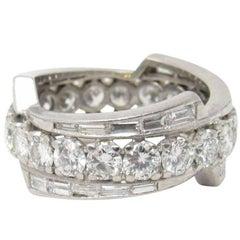 4.65 Carat 1950s Platinum Diamond Eternity Band Ring