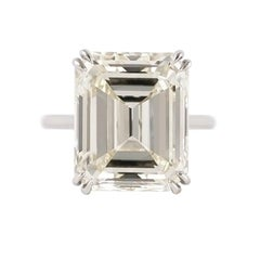 J. Birnbach 11.32 Carat Emerald Cut Solitaire Ring